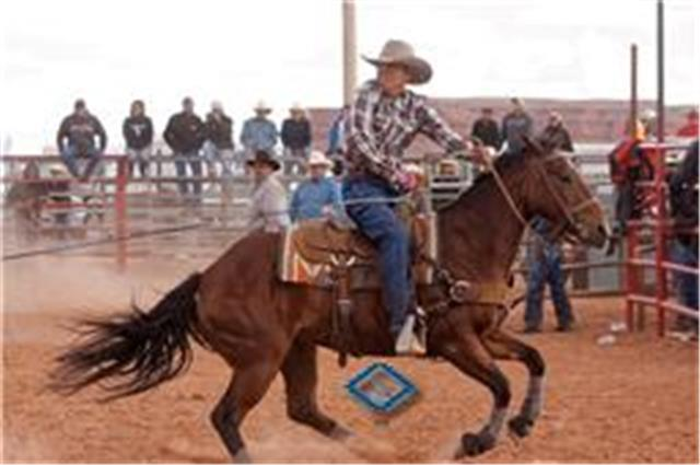 man rides on horse