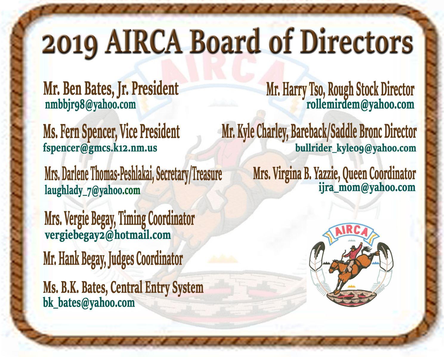 2019 AIRCA Board of Directors