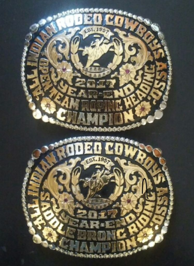 All Indian Rodeo Cowboys Association Champion belt buckle